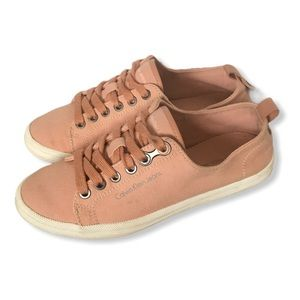 Calvin Klein Jeans Pink Lace-up Sneakers Size 6